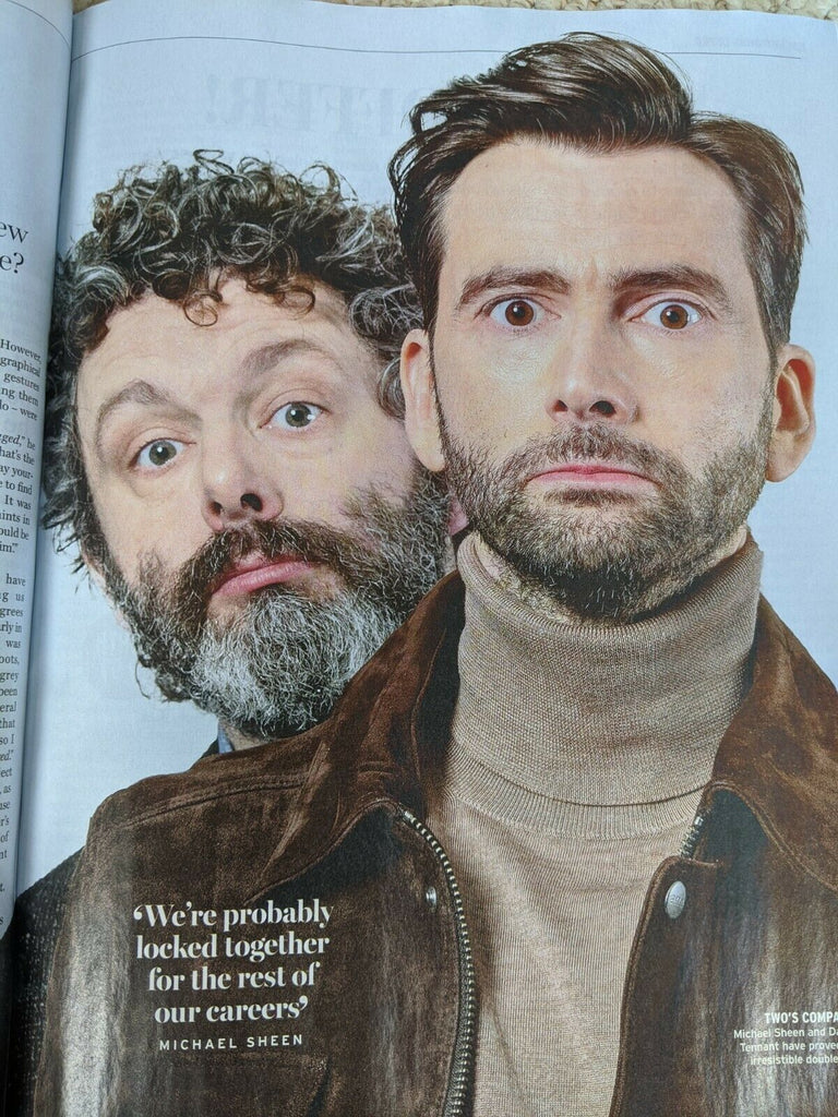 UK Radio Times Magazine 13 June 2020: David Tennant Michael Sheen Nicholas Hoult