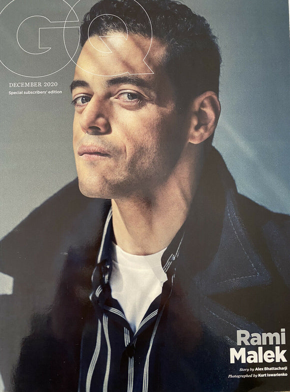 GQ MAGAZINE UK DECEMBER 2020 BRITISH EDITION - RAMI MALEK SUBSCRIBERS COVER