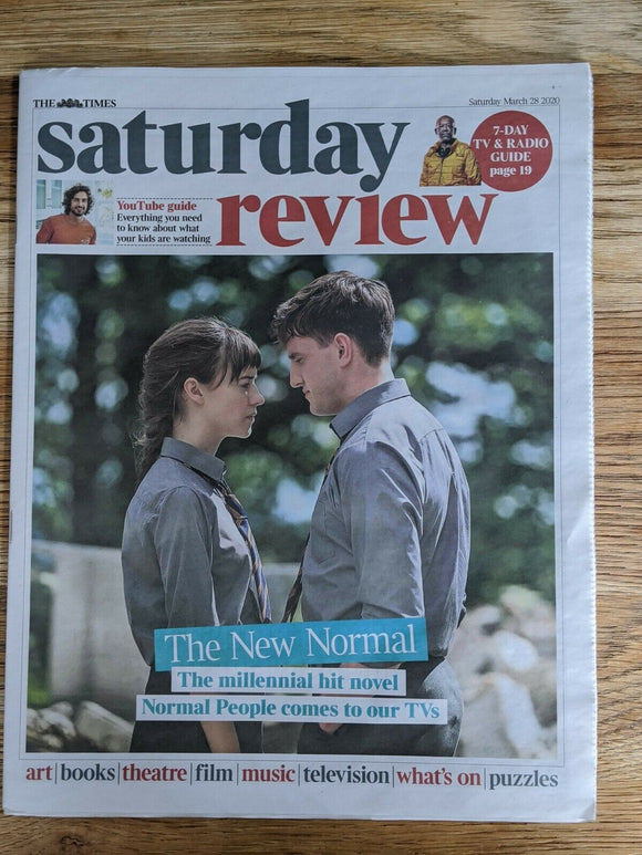 UK TIMES REVIEW March 28 2020: SALLY ROONEY Normal People PAUL MESCAL