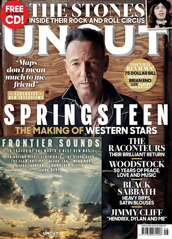 UNCUT magazine August 2019 Bruce Springsteen The Rolling Stones Woodstock
