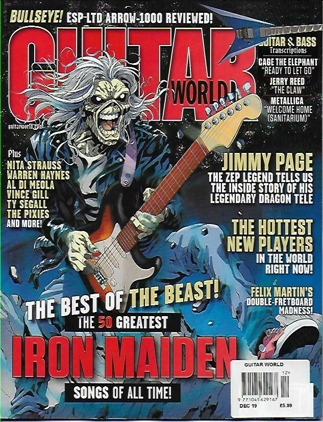 US GUITAR WORLD December 2019: IRON MAIDEN COVER FEATURE
