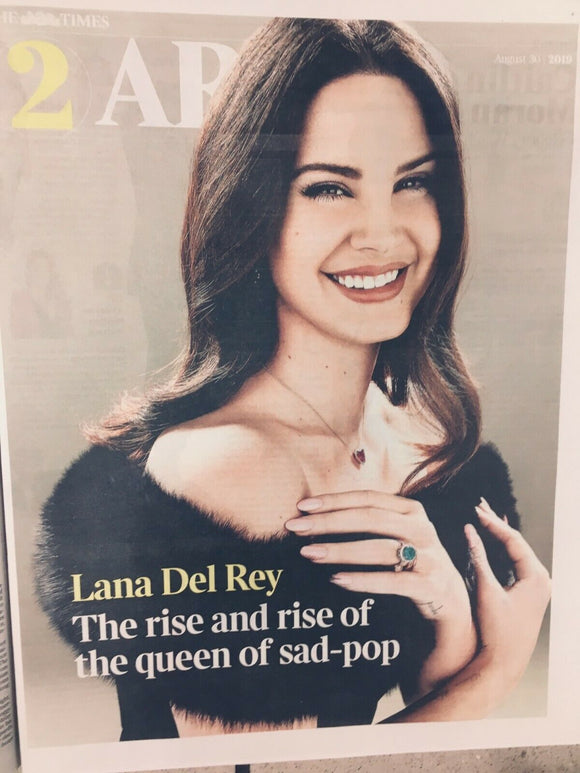 UK Times T2 August 2019: LANA DEL REY COVER & FEATURE
