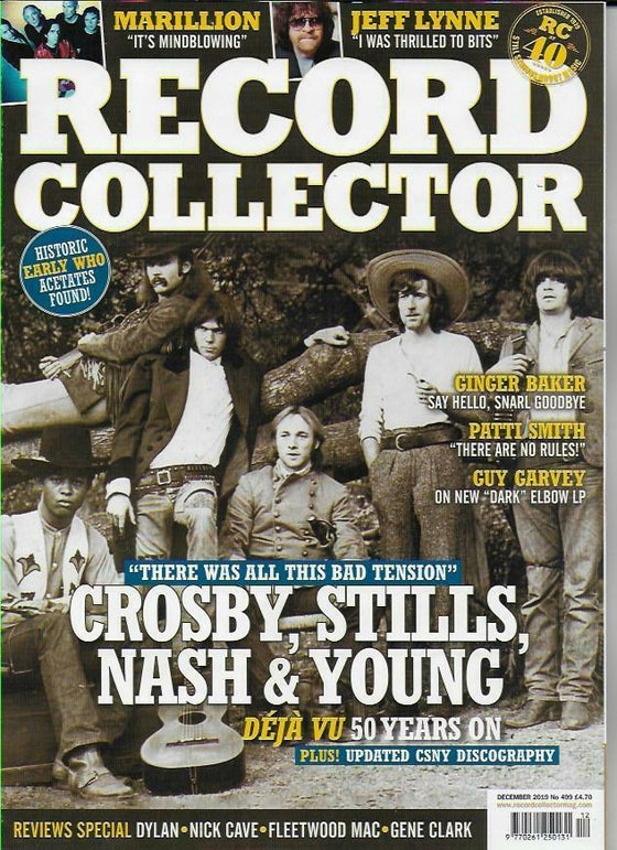 RECORD COLLECTOR magazine Dec 2019: Crosby, Stills, Nash & Neil Young Jeff Lynne