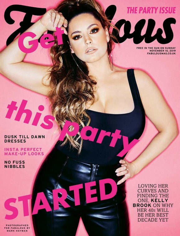 FABULOUS magazine 11th November 2019 Rick Astley Kelly Brook