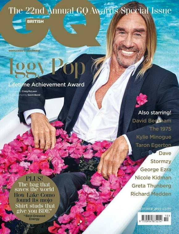 IGGY POP - GQ MAGAZINE UK OCTOBER 2019 BRITISH EDITION NEW