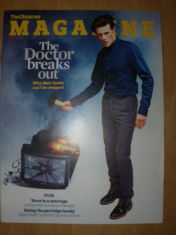 THE OBSERVER MAGAZINE 4th DECEMBER 2011 DOCTOR WHO - MATT SMITH