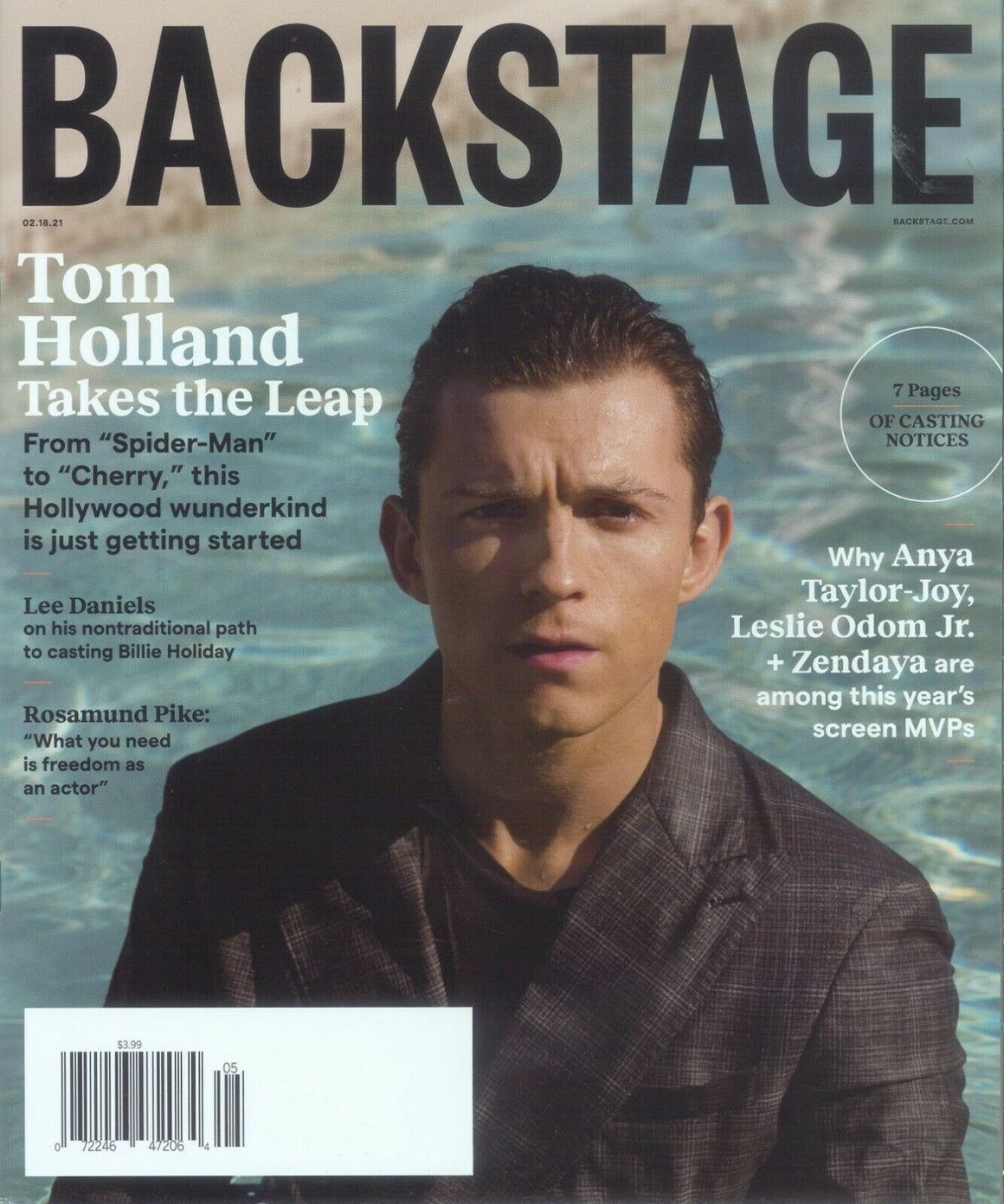 BACKSTAGE MAGAZINE - FEBRUARY 18, 2021 - TOM HOLLAND (Non US Customers Listing)
