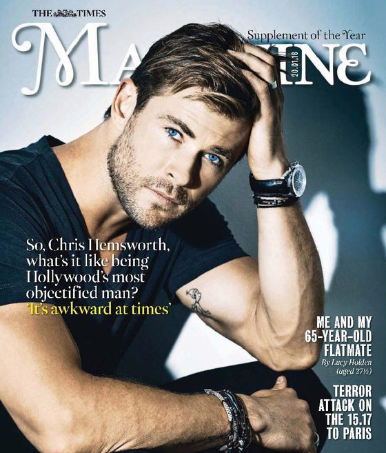 Chris Hemsworth on the cover of Times Magazine