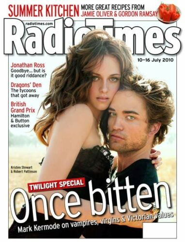 Radio Times magazine July 2010 Robert Pattinson Kristen Stewart