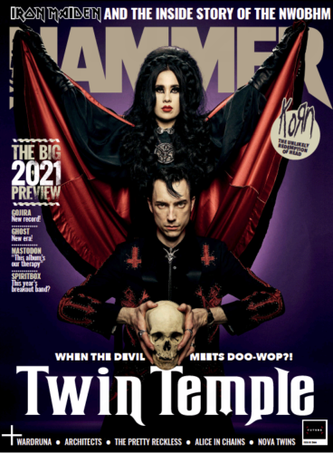 Metal Hammer Magazine February 2021: TWIN TEMPLE COLLECTORS COVER