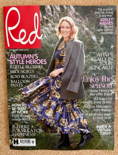 UK Red Magazine November 2020: Keeley Hawes Cover Story