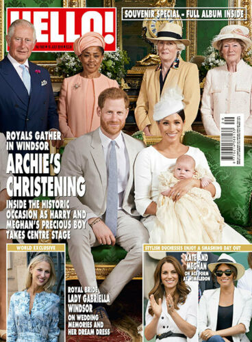 HELLO! Magazine July 2019: ROYAL BABY ARCHIE CHRISTENING SOUVENIR MEGHAN MARKLE