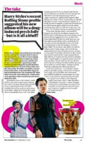 UK Guardian Guide September 2019: LONDON HUGHES Harry Styles JUDY GARLAND