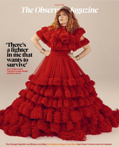 NATASHA LYONNE UK OBSERVER MAGAZINE JULY 21st 2019