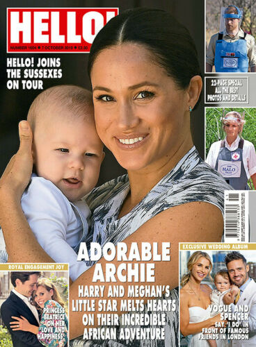 Hello Magazine October 2019: MEGHAN MARKLE Archie PRINCE HARRY SPECIAL
