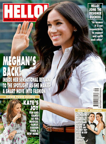HELLO! magazine 23 September 2019 Meghan Markle Kate Middleton Timothee Chalamet