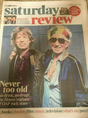 TIMES REVIEW Magazine Aug 2019: THE ROLLING STONES Keith Richards & Mick Jagger