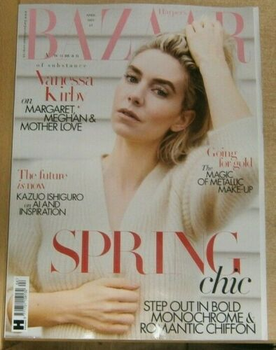 Harper's Bazaar magazine Apr 2021 Vanessa Kirby The Crown