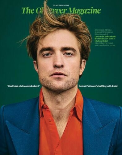 UK Observer Magazine December 2019: Robert Pattinson Cover