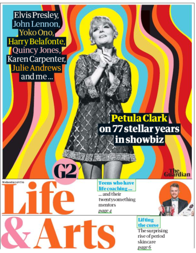 UK Guardian G2 July 2019: PETULA CLARK COVER AND FEATURE