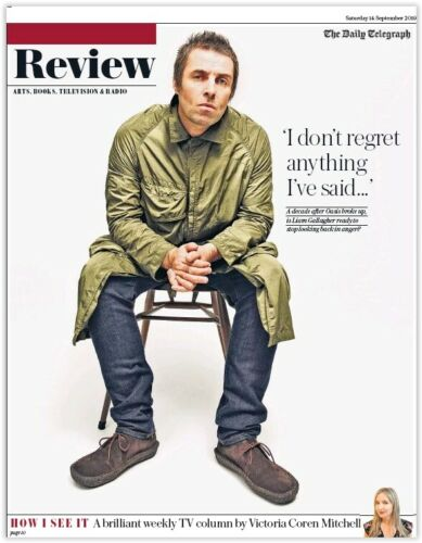 UK Telegraph Review September 2019: LIAM GALLAGHER Russell Tovey OASIS