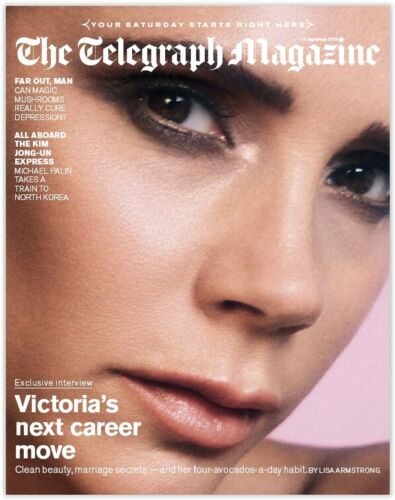 UK Telegraph Magazine September 2019: VICTORIA BECKHAM SPICE GIRLS COVER FEATURE