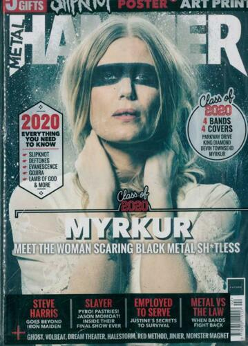 METAL HAMMER MAGAZINE FEB 2020 (MYRKUR. GHOST, PARKWAY DRIVE, KING DIAMOND) + FREE SLIPKNOT POSTER