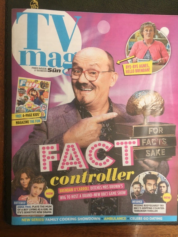 SUN TV Magazine 10/2018: Brendan O'Carroll David Tennant Dr Christian Jessen