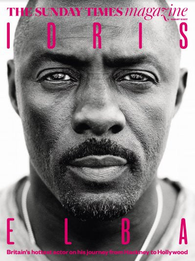 UK Sunday Times magazine 13 August 2017 Idris Elba Exclusive Cover Interview