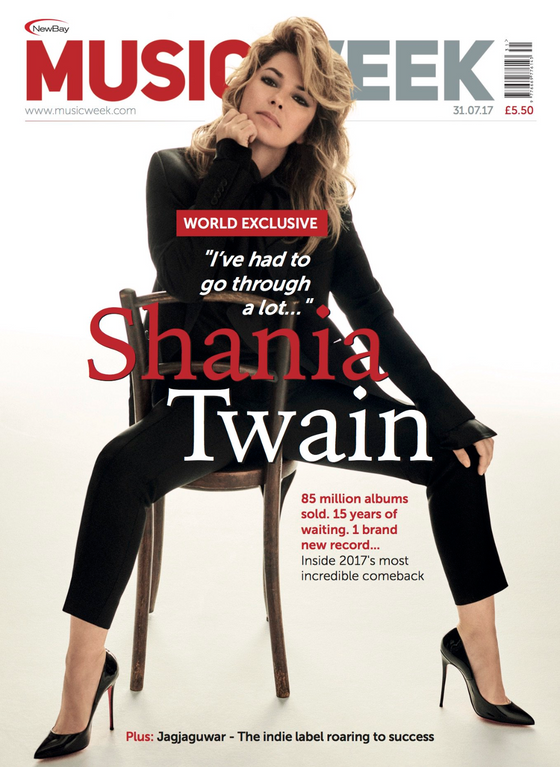 UK Music Weekly Magazine 31st July 2017 Shania Twain World Exclusive Interview