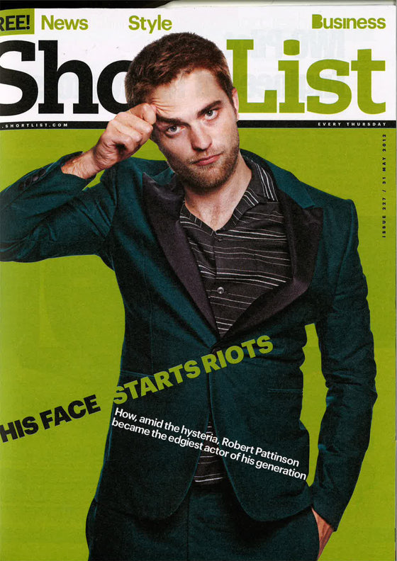 Shortlist Magazine May 2012 Robert Pattinson UK Cover Interview