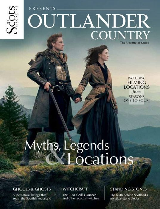 Scots Magazine Outlander Country - Sam Heughan & Caitriona Balfe
