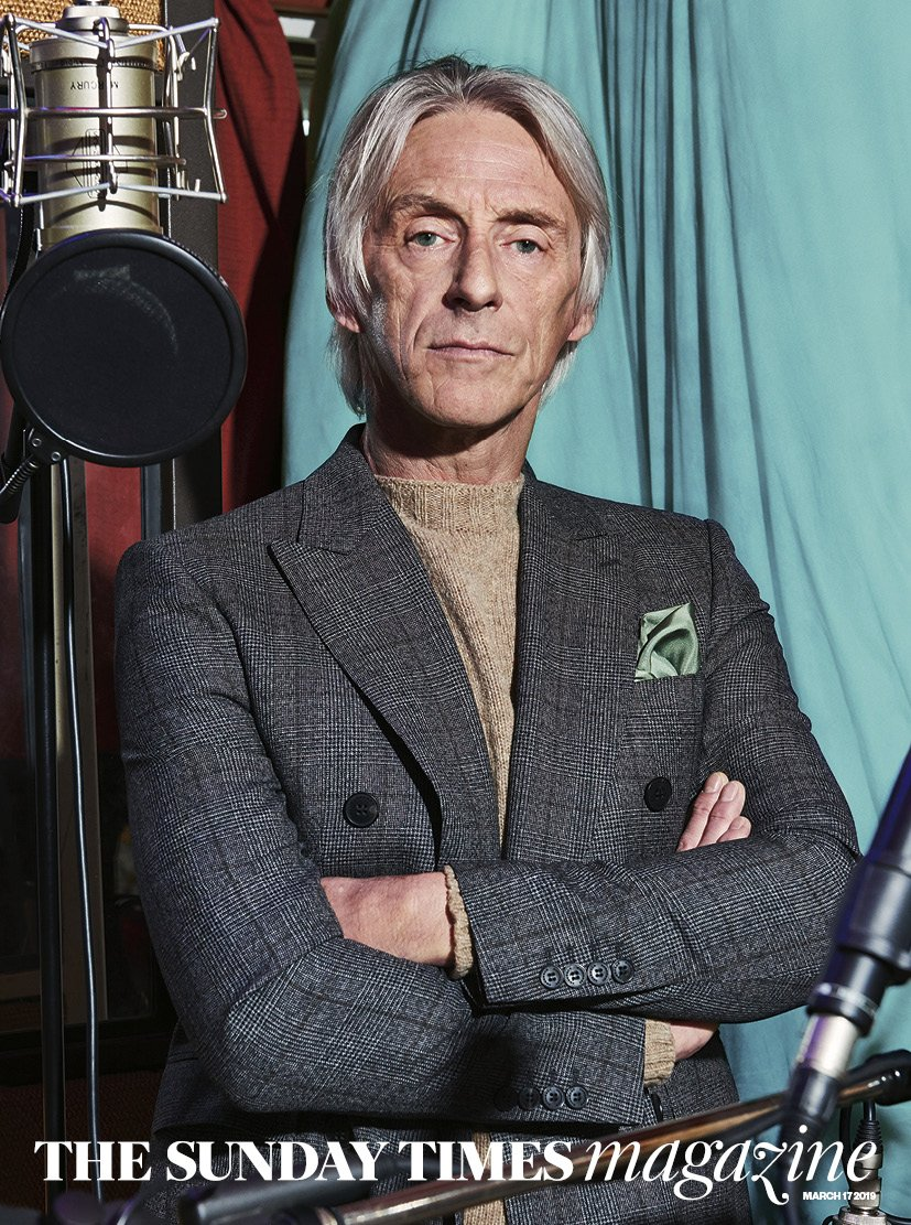 UK Sunday Times Magazine March 2019: PAUL WELLER COVER AND INTERVIEW