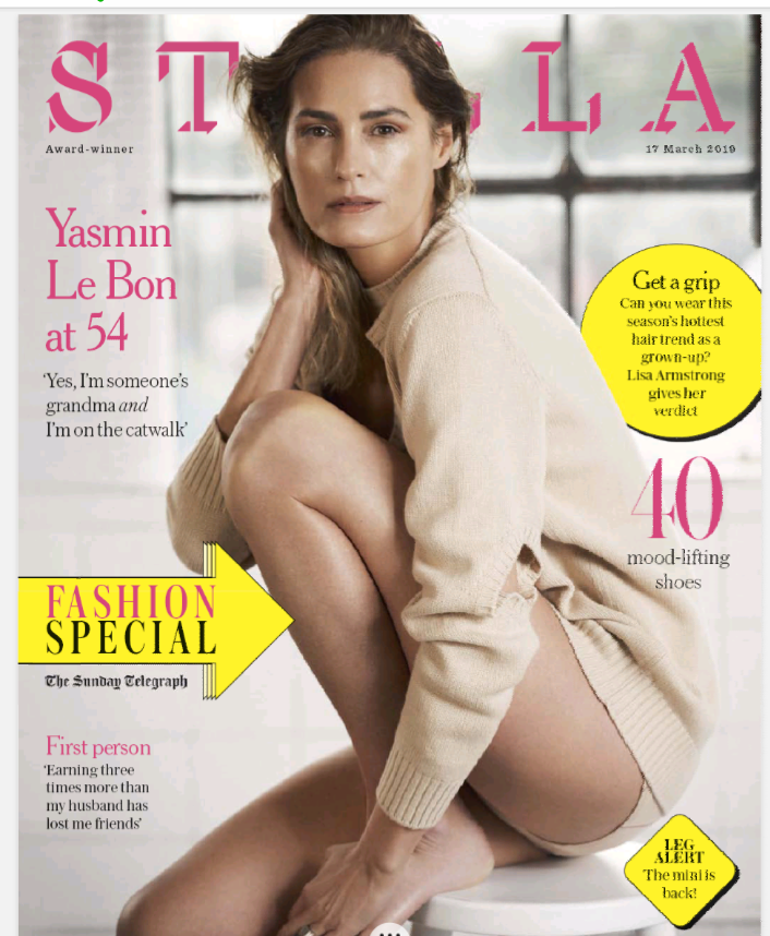 Yasmin Le Bon At 54 Stella Magazine 17/03/19 Interview feature Cover