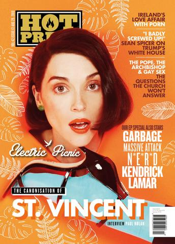 HOT PRESS Magazine 42-13: ST VINCENT Annie Clark COVER STORY INTERVIEW