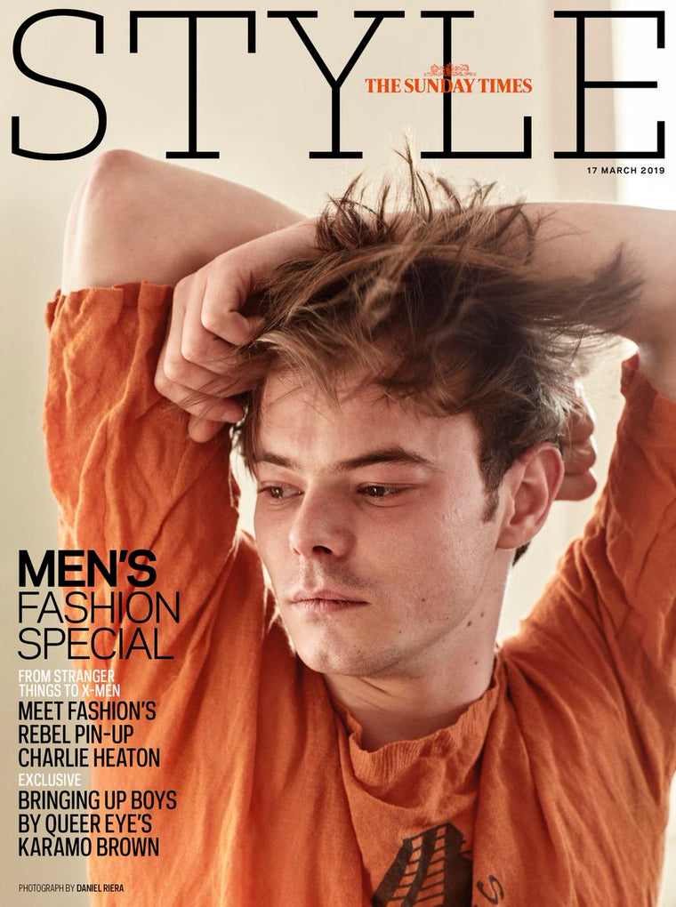 UK Style Magazine March 2019: CHARLIE HEATON Stranger Things Cover And Feature