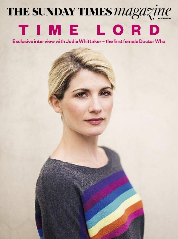 UK Sunday Times Magazine MAR 2018: Doctor Who JODIE WHITTAKER COVER STORY