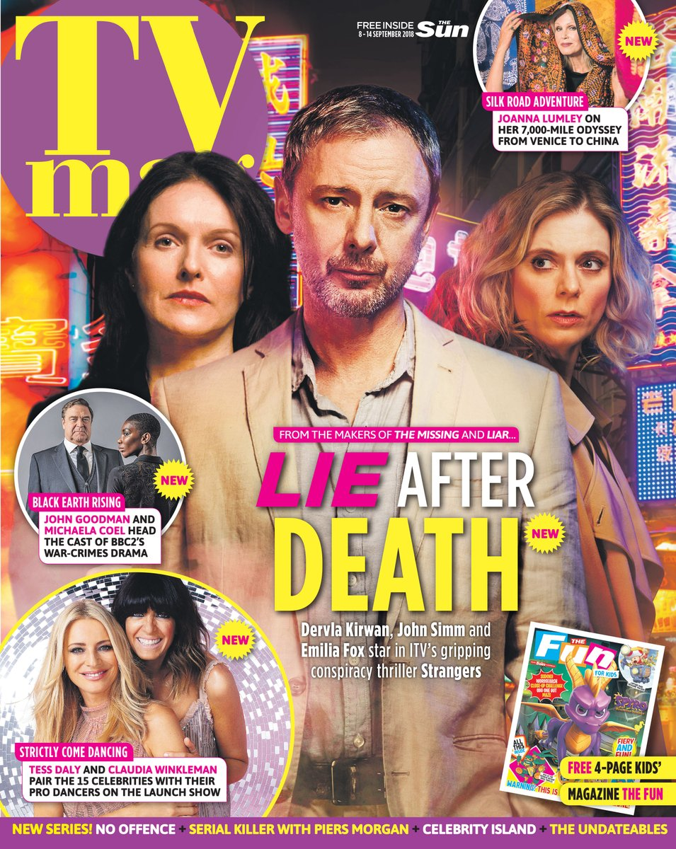 SUN TV Magazine SEPT 2018 JOHN SIMM Dervla Kirwan MATTHEW GOODE Emilia Fox