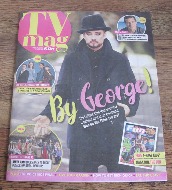 New UK Boy George TV Magazine Cover (Who Do You Think You Are) July 2018