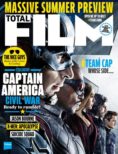 TOTAL FILM MAGAZINE JUNE 2016 CAPTAIN AMERICA: CIVIL WAR CHRIS EVANS SEBASTIAN STAN