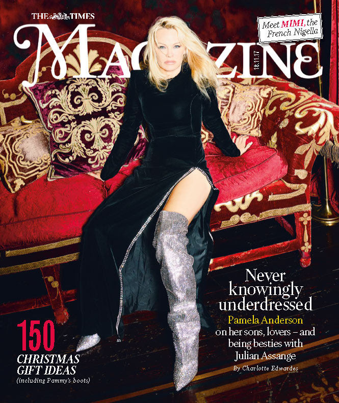 UK Times Magazine NOVEMBER 2017: PAMELA ANDERSON COVER INTERVIEW - Angela Gheorghiu