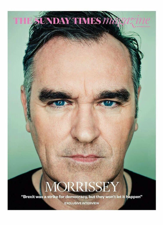 morrissey on the cover of the Sunday Times Magazine