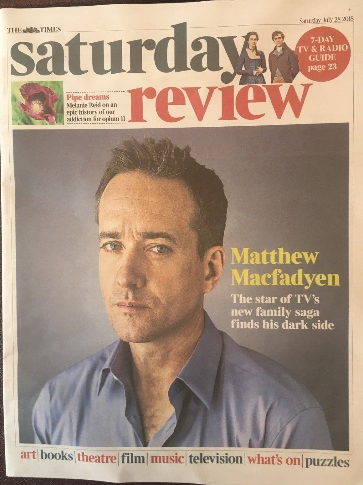 UK TIMES REVIEW July 2018: Matthew MacFadyen Interview (Succession) Mark Gatiss