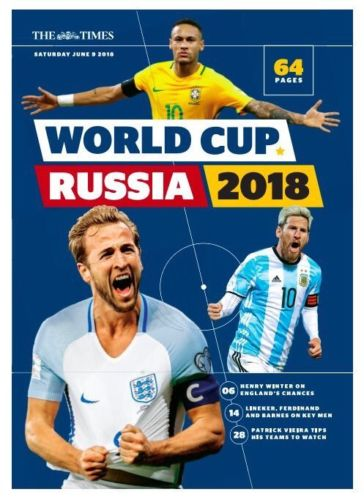 The Times Football World Cup Russia 2018 64 Page Guide UK Magazine