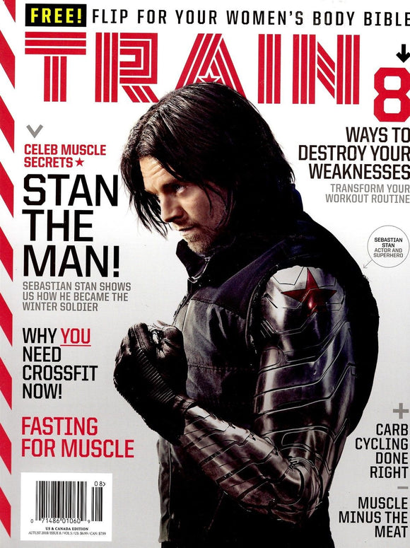 Train Magazine August 2018 SEBASTIAN STAN Avengers Infinity War Cover Story