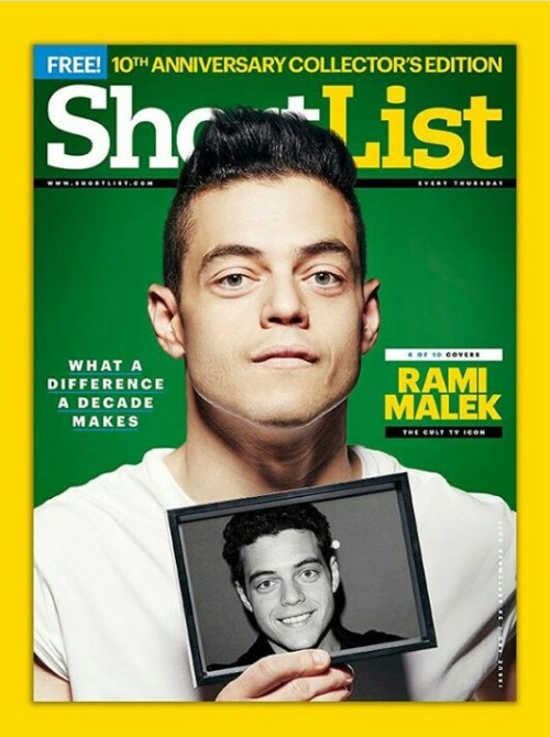 UK Shortlist Magazine 28 September 2017 10th Anniversary Issue - Rami Malek