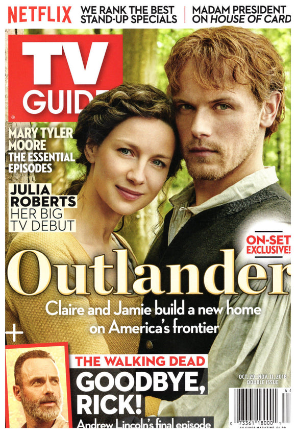 TV Guide Magazine October 29 2018 Sam Heughan Outlander Caitriona Balfe