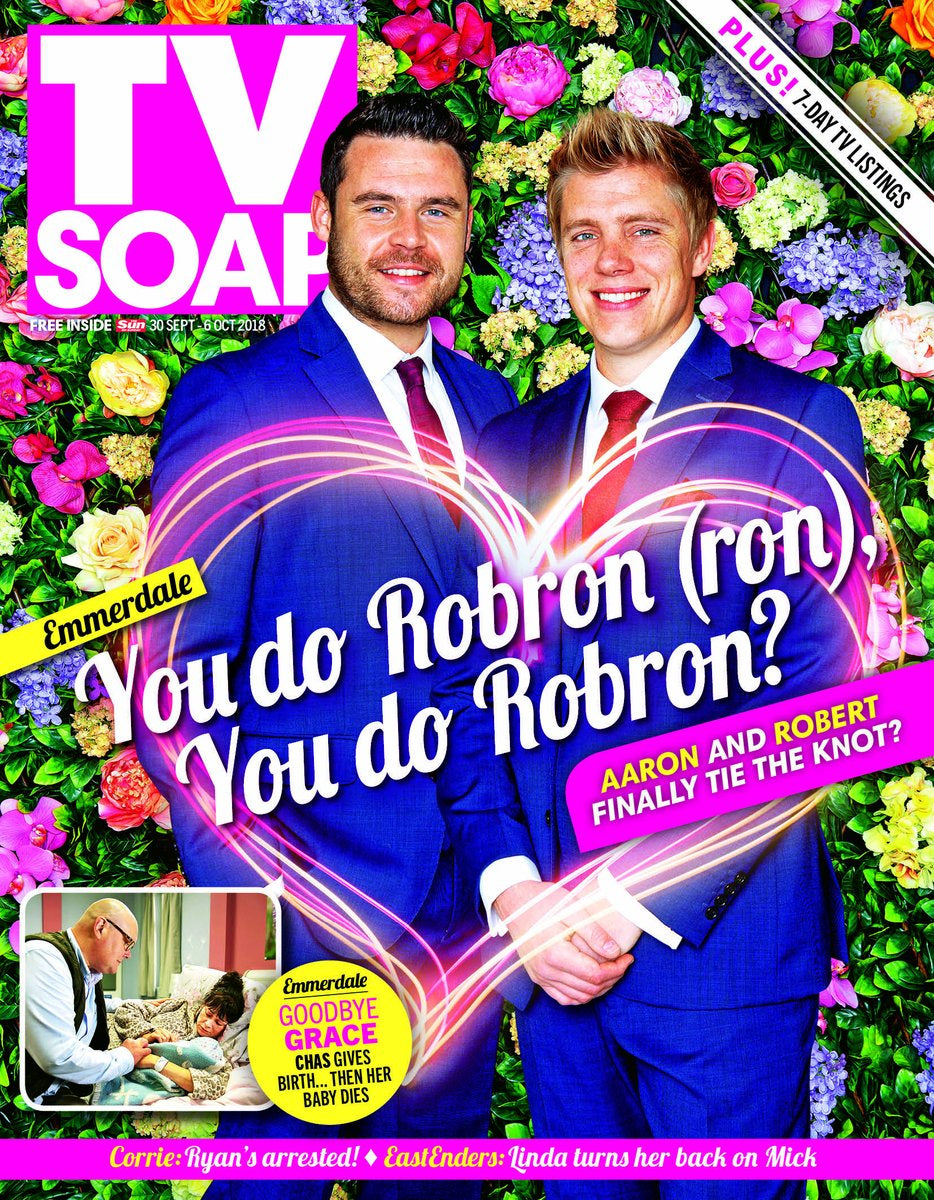 TV Soap Magazine Sept 30 2018 DANNY MILLER & RYAN HAWLEY (ROBRON) GET MARRIED!