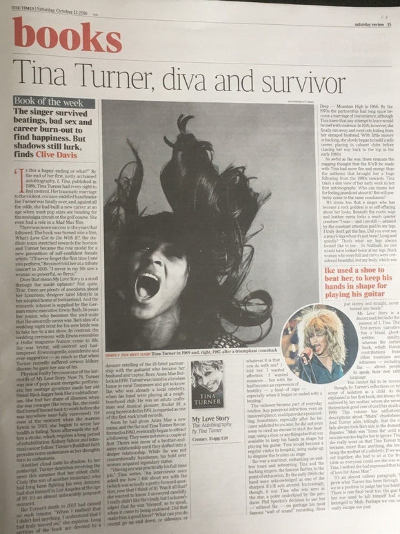UK TIMES REVIEW 10/2018: ALEXANDER SKARSGARD Tina Turner DAVID CROSBY Cillian Murphy