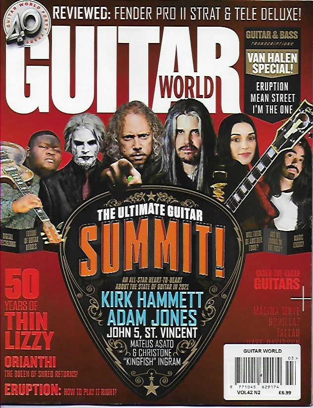 Guitar World February 2021 Adam Jones Tool & Kirk Hammett